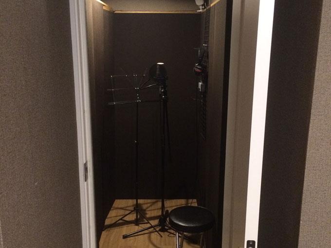 レコーディングスタジオボーカルブース